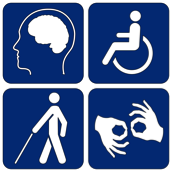 four way accessibility logo